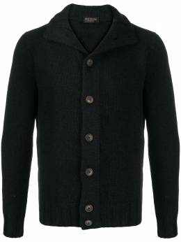 Dell'oglio buttoned up chunky knit cardigan I25997102157671
