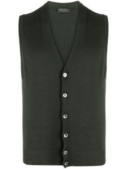 Dell'oglio sleeveless V-neck cardigan I27401