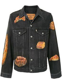 Doublet джинсовая куртка с принтом 20AW18BL113