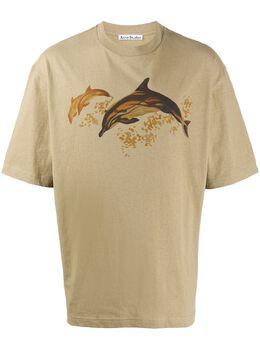 Acne Studios футболка с принтом Dolphin BL0207