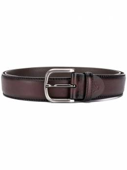 Canali pebbled-effect leather belt KA00025