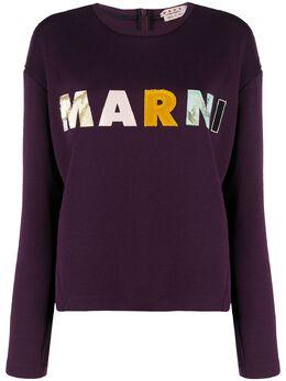 Marni logo patch sweatshirt FLJE0020S1TW668