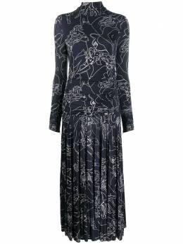 Victoria, Victoria Beckham двухцветное платье 2320WDR001780A