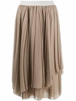 Fabiana Filippi многослойная плиссированная юбка GND220B9010000F141