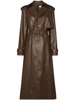 Bottega Veneta belted-waist leather trench coat 640244V06E0