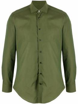 Etro поплиновая рубашка с заостренным воротником 114513103