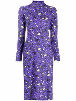 Mm6 Maison Margiela платье с леопардовым принтом и высоким воротником S52CT0571S23703