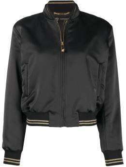Versace атласная куртка-бомбер с вышивкой A85477A224455