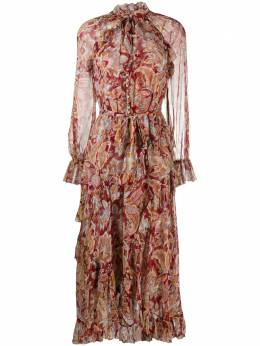 Zimmermann paisley print flare dress 6901DLADREDJAC