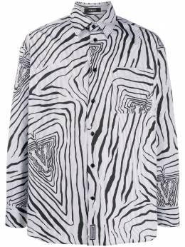 Versace рубашка Virtus в тонкую полоску A88004A237189