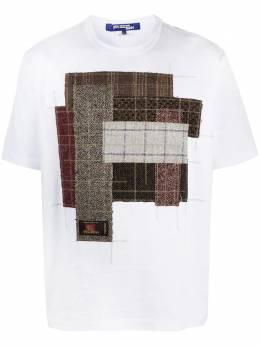 Junya Watanabe Man клетчатая футболка в технике пэчворк WFT00105123