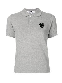 Comme Des Garcons Play рубашка поло с нашивкой-логотипом AZT297051