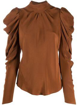 Rejina Pyo Sofia draped sleeve blouse C288SOFIATOP