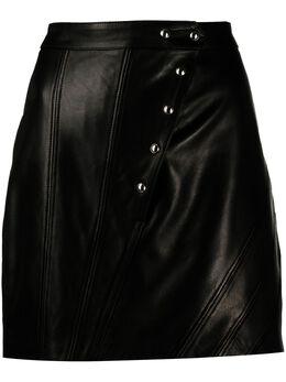 Iro asymmetric leather mini skirt WM31UNGABLA01