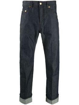 Neil Barrett джинсы с контрастными вставками BDE300CP802C