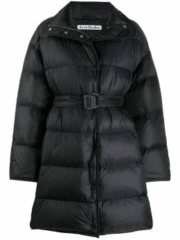 Acne Studios belted padded coat A90306