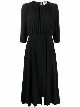 Semicouture присборенное платье миди Y0WU08