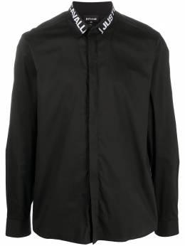 Just Cavalli рубашка с длинными рукавами и логотипом на воротнике S03DL0314N38909