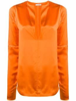 Nina Ricci удлиненная блузка с V-образным вырезом 20HCTO042SE1344U6459