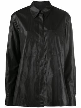 Ymc рубашка оверсайз с накладным карманом Q2PAI