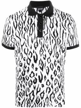 Just Cavalli рубашка поло с зебровым принтом S03GL0059N21540
