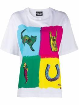 Boutique Moschino logo colour-block T-shirt A12035840