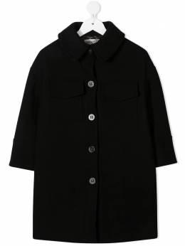 Simonetta фетровое пальто с заостренным воротником 1N2050NE770