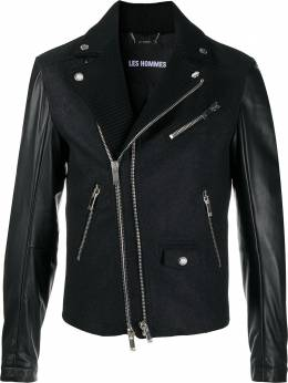 Les Hommes байкерская куртка со вставками LJO400209L