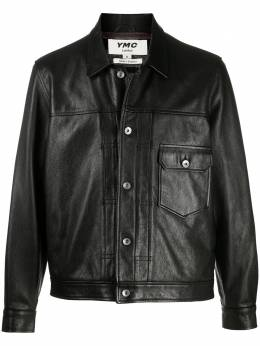 Ymc cracked-effect leather jacket P5PAG