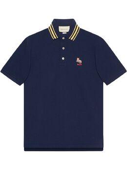 Gucci рубашка поло из ткани пике с нашивкой 636403XJCXW