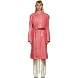 Bottega Veneta Pink Shiny Trench Coat 626527 VKLC0
