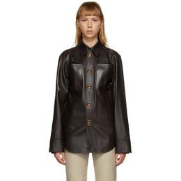 Bottega Veneta Brown Leather Shirt 630720 VKV90