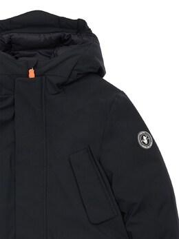 Hooded Nylon Down Parka Coat Save The Duck 72ILXX016-MDAwMDE1