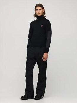 Wool Knit & Nylon Sweater Moncler Grenoble 72IL72042-OTk50