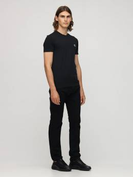 Хлопковая Футболка С Вышивкой Calvin Klein Jeans 72IJSG002-QkFF0
