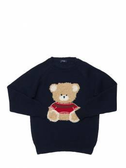 Bear Intarsia Virgin Wool Knit Sweater Il Gufo 72I8ZD030-NDkzNw2