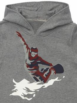 Ski Print Cotton Sweatshirt Hoodie Il Gufo 72I8ZC043-MDczOQ2