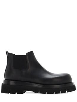 Кожаные Ботинки Chelsea Bottega Veneta 72I0LR007-MTAwMA2