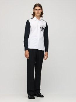 Sport Star Print Cotton Poplin Shirt Neil Barrett 72I05I024-MTg1MA2