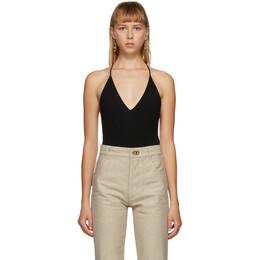 Bottega Veneta Black Cashmere Bodysuit 638604 V07L0