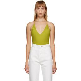 Bottega Veneta Green Cashmere Bodysuit 638604 V07L0