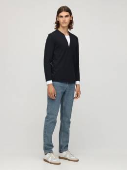 Double Collar Cotton Jersey T-shirt Neil Barrett 72I05I007-NTI00