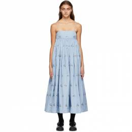 Cecilie Bahnsen Blue Beth Dress AW20-0040