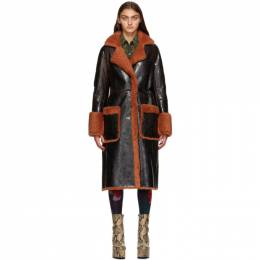 Dries Van Noten Brown Shearling Coat 1382 Lorca