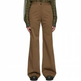 Dries Van Noten Taupe Twill Oversized Trousers 1282 Pantery
