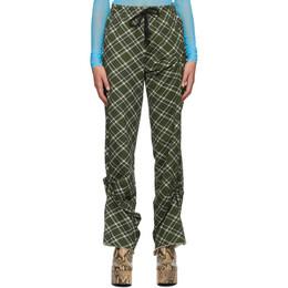 Dries Van Noten Green and White Check Lounge Pants 1621 Humer Pr