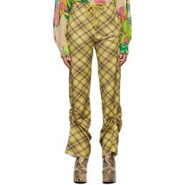 Dries Van Noten Yellow Check Lounge Pants 1621 Humer Pr