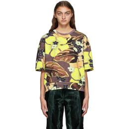 Dries Van Noten Yellow and Brown Floral Sweatshirt 1622 Hulovi Pr
