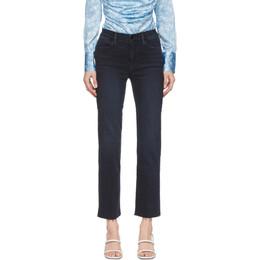 Frame Blue Le High Straight Raw Edge Jeans LHSTRA219