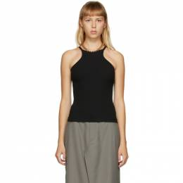 Dion Lee Black Chain Necklace Tank Top A3419F20